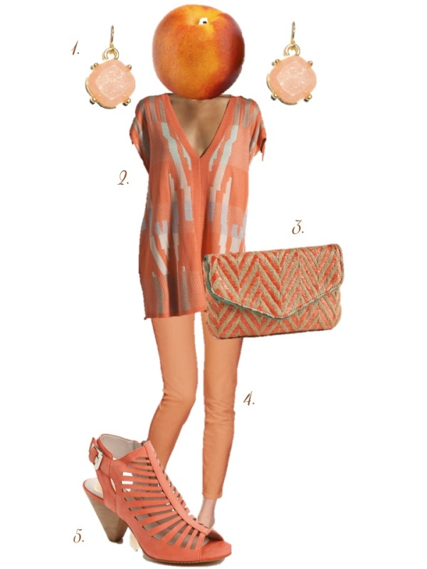 Color Crush: Nectarine // Sequins at Breakfast